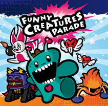 Funny Creatures Parade. A Illustration, Br, ing, Identit, Character Design, and Packaging project by David Figuer - Jun 16 2014 12:00 AM