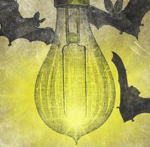 LUCKY MALICE + JETTY VERTIGO + TELETEXTO | poster. Un proyecto de Diseño, Ilustración, Publicidad y Diseño gráfico de alejandro escrich - 01-04-2014