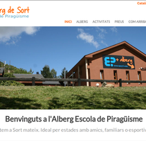 Alberg Escola de Piragüisme. A Web Design project by Olga Cuevas i Melis - Jun 20 2014 12:00 AM