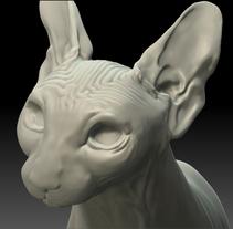 WIP. Escultura digital, gato esfinge. A 3D, and Sculpture project by Rafa Jurado Romero         - 14.10.2013
