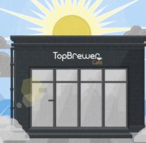 TopBrewer Café. Um projeto de Motion Graphics de Matteo Crinelli         - 25.06.2014