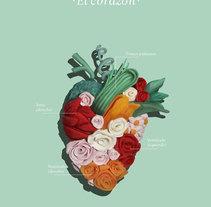 El corazón. A Crafts, Fine Art, and Graphic Design project by Olga M. - 04-07-2014