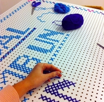 Campaña punto de cruz XL Ajuntament de Mataró. Un proyecto de Publicidad y Artesanía de Alícia Roselló Gené - Sábado, 15 de diciembre de 2012 00:00:00 +0100