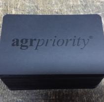 Nuevas tarjetas AgrPriority. Un proyecto de Artesanía, Diseño y Tipografía de Alberto González  - Viernes, 18 de julio de 2014 00:00:00 +0200
