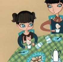 la niña que aprendió a soñar. A Illustration, Character Design, and Painting project by Marianela Solis - 01-07-2013