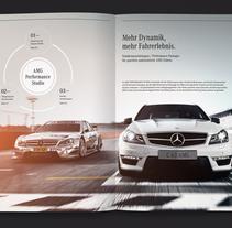 Mercedes-AMG Performance Studio – una seria de tres folletos. Un proyecto de Diseño, Br, ing e Identidad, Diseño editorial y Diseño gráfico de Katrin Horstkemper         - 19.06.2011