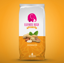 Restyling frutos secos Elefante Rosa. A Br, ing, Identit, and Packaging project by Jose Mª Quirós Espigares - 11-08-2014