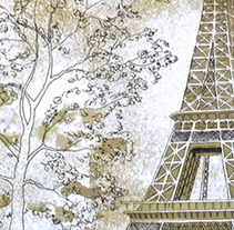 París. A Illustration, Fine Art, L, scape Architecture, Painting, and Set Design project by Juanma Garcia         - 18.08.2014