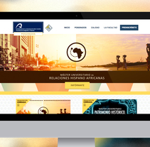 Web de Masters de la Facultad de Geografía e Historia de la ULPGC. Um projeto de UI / UX, Web design e Desenvolvimento Web de Mokaps          - 26.05.2014