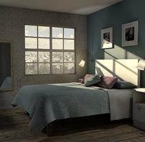Infoarquitectura 3d Habitación. Un proyecto de 3D, Arquitectura y Arquitectura interior de O'DOLERA         - 04.09.2014
