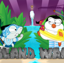 Juego Island Wars para IOS. A Illustration, UI / UX, Animation, Game Design, and Graphic Design project by Marta Solis         - 05.09.2011