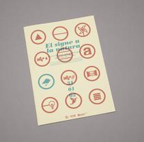 """Proyecto editorial """"El signe a la natura"""". Un proyecto de Diseño, Diseño editorial, Educación y Diseño gráfico de David Rico - 13-04-2014"""