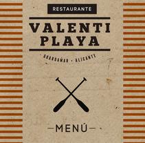 Nueva imagen Restaurante Valentí. Um projeto de Design de Pokemino         - 07.06.2014