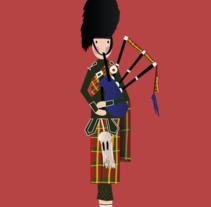 Fondo de escritorio y móvil escocés. . Um projeto de Design, Ilustração e Artes plásticas de Alba Romero de la Herrán         - 08.09.2014