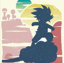 Dragon Ball Concept Poster. Um projeto de Design, Ilustração, Design de personagens e Design gráfico de Sergio Kian         - 13.10.2014