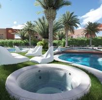 3D Restyling Resort Oliva NOVA. A 3D, Animation, Interior Architecture&Interior Design project by Roberto Ampudia Sanchez - Oct 27 2014 12:00 AM