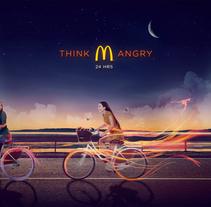 McDonalds: Think Angry. Um projeto de Publicidade e Direção de arte de Mr. Kuns ™         - 28.10.2014