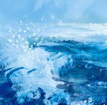 Almadrava Beach. Un proyecto de Ilustración, Paisajismo y Pintura de Ricard Cendra - 09-10-2014
