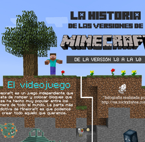 Infografía Minecraft. Um projeto de Design gráfico de Clara Aguirre - 29-10-2014