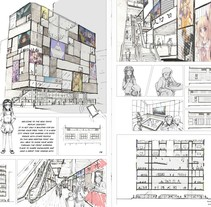 Akihabara Arquitecture Project. A Illustration, and Architecture project by Marina Orgaz Bernal - 04-11-2014