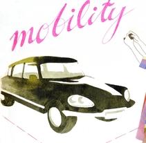 """Mobility: dibujo en el sketchbook """"Kultur"""" de la IO. A Illustration project by Virginia Romo - 29-07-2014"""