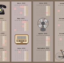 calendario objetos antiguos. A Illustration project by Abril Millán         - 18.11.2014