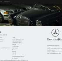 WordPress - Mercedes Benz. A Photograph, and Web Design project by María Díaz-Llanos Lecuona         - 19.11.2014