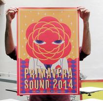 Primavera Sound 2014. A Illustration, and Screen-printing project by barbasilkscreenatelier - 05.22.2014