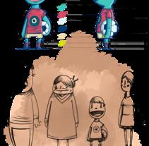 Diseño de personajes para Spot de TV. Un proyecto de Ilustración, Animación y Diseño de personajes de Óscar Lloréns - 24-07-2012