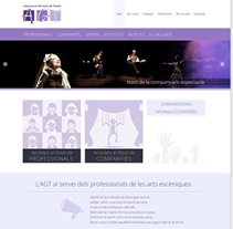 AGT Associació Gironina de Teatre. Un proyecto de Diseño gráfico, Diseño Web y Desarrollo Web de Diana Tubau Gassiot         - 24.11.2014