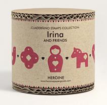 Irina and friends stamps set. Un proyecto de Ilustración, Diseño de juegos y Packaging de Heroine Studio - 01-12-2014