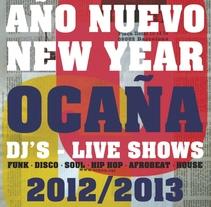 Cartel Fin de Año Ocaña Club. Um projeto de Design gráfico de Salvador Fernández Jordan         - 24.12.2012