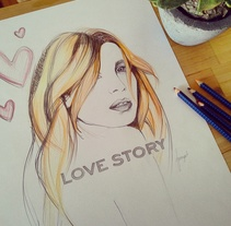 Love story. A Illustration, Fashion, and Fine Art project by tamara sanchez carrero         - 07.12.2014