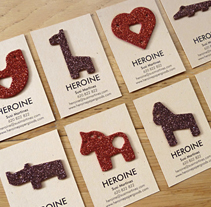 Personal cards. A Br, ing&Identit project by Heroine Studio - 12.18.2014