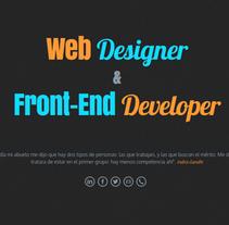 Portfolio. Un proyecto de Diseño y Diseño Web de Alfredo Moya - Domingo, 21 de diciembre de 2014 00:00:00 +0100