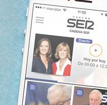 Cadena SER. Un proyecto de Diseño, Desarrollo de software, UI / UX, Dirección de arte y Diseño gráfico de Fourandgo Mobile  - 21-12-2014