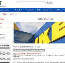 Área de prensa IKEA España. Um projeto de Desenvolvimento Web de Jesús Muiño Conesa         - 21.05.2013