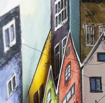 Las Ciudades Invisibles · Italo Calvino. A Illustration, Editorial Design, and Fine Art project by Marina Eiro - 11-01-2015