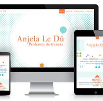 Anjela Le Dû - Profesora de francés - www.anjelaledu.com. Un proyecto de Arquitectura de la información, Br, ing e Identidad, Diseño gráfico, Ilustración y UI / UX de Iván Álvarez Maldonado - 01.01.2014