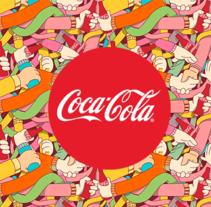 Diseño de patrón para Coca Cola. Pattern Design.. Um projeto de Design, Ilustração e Direção de arte de Óscar Lloréns - 13-07-2014