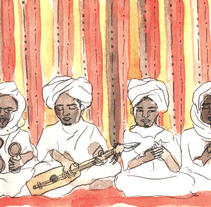 Morocco Sketchbook. A Illustration, Fine Art, and Painting project by Olga Molina - 09-02-2015