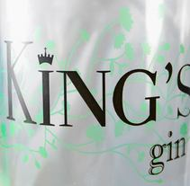 Kings Gin. A Br, ing, Identit, and Graphic Design project by Adrian De la hoz - 11-02-2015