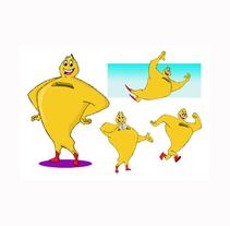 Mascota publicitaria Mr. Hucha. Un proyecto de Diseño, Diseño de personajes e Ilustración de Fernando Falcón Astruga - Lunes, 16 de febrero de 2015 00:00:00 +0100