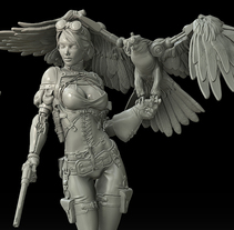 Jessica Thunderhawk. A 3D, Character Design, and Sculpture project by David Fernández Barruz         - 21.02.2015