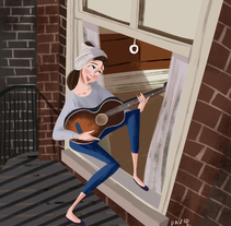Moon River. A Illustration, Film, Video, TV, and Character Design project by David Pavón Benítez         - 25.02.2015