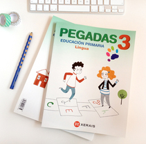 Pegadas, libro de texto. A Illustration project by Nuria Diaz - 02-09-2014