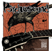 Psychosound Tour Poster. A Design, Illustration, Music, and Audio project by Ana Marín - Mar 03 2015 12:00 AM