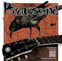 Psychosound Tour Poster. Un proyecto de Diseño, Ilustración, Música y Audio de Ana Marín - 02-03-2015