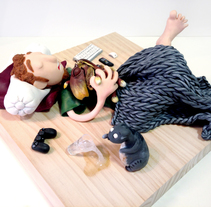 La siesta de Pablo, Tera y Bengala. A Character Design, Fine Art, and Sculpture project by Cristina DM Marín         - 07.03.2015