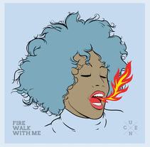 Fire Walk With Me. Um projeto de Ilustração, Artes plásticas e Design gráfico de Alberto Cuenca Alvarez         - 01.02.2015